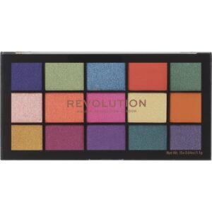 Δημιουργήστε πολύ εύκολα άψογο μακιγιάζ για όλη την ημέρα με την παλέτα σκιών Makeup Revolution Re-Loaded.